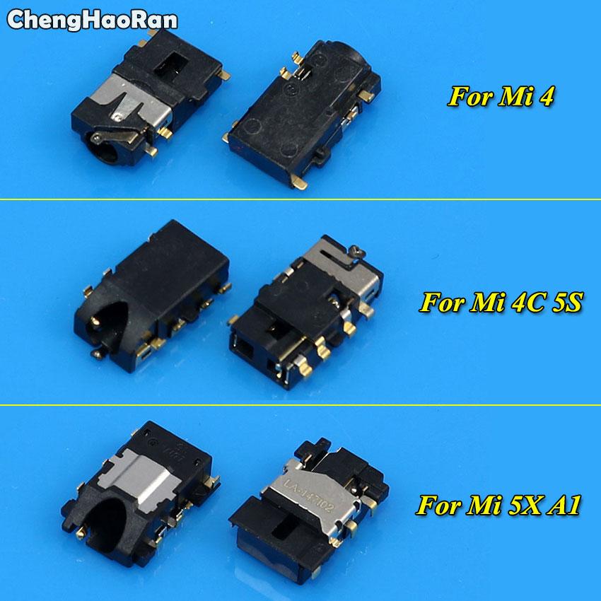 ChengHaoRan 5pcs Tested Ear Earphone Jack Flex Cable Ribbon Headphone Audio Jack Port For Xiaomi Redmi 4 4C 5S 5X A1