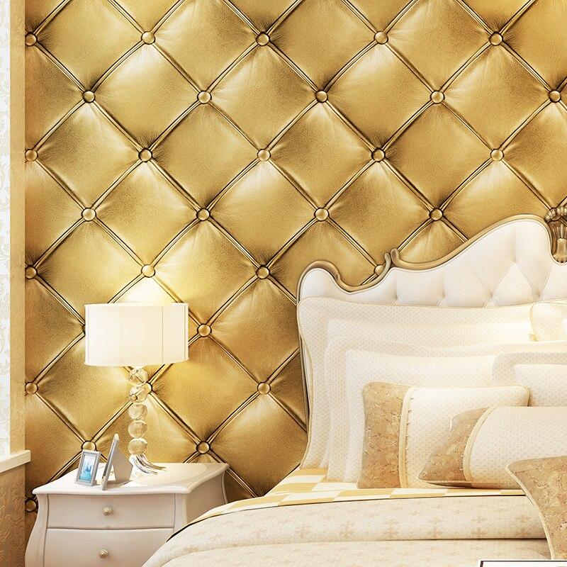 PAYSOTA Роскошные 3D обои из искусственной кожи для стен, гостиной, обоев, фона, 4 вида цветов на выбор