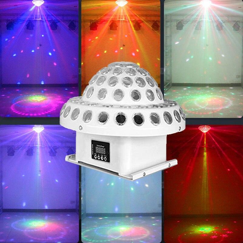 BOLA MÁGICA Luz de escenario con efecto de luz láser RGB LED Luz de escenario DMX512 gran efecto DJ Disco KTV sala teatro iluminación de escenario
