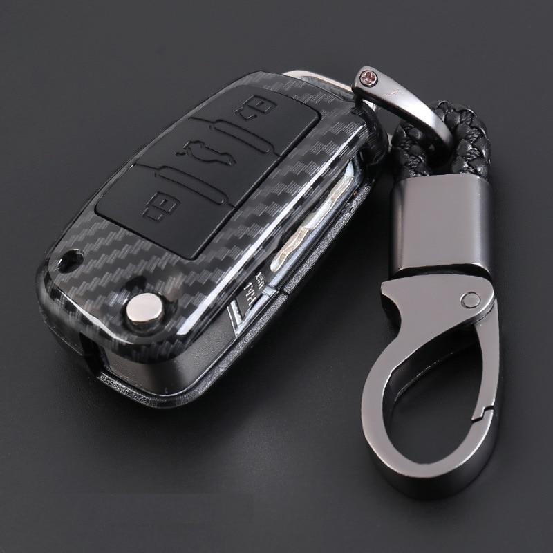 ¡3 botones de control remoto funda inteligente para llave de coche para Audi A1 A3 A4 A6L B9 Q3 Q5 Q7 R8 TT TTS 8 2016 S 2017 ect! Clave Shell bolsa Porta llaves