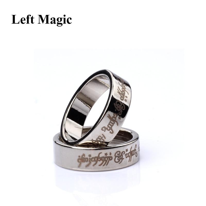 1 шт., Мощное магнитное магическое кольцо, магнитное кольцо, монета, волшебные трюки, украшение для пальцев, волшебное кольцо, мага, в1036