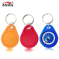 10pcs 13.56MHz IC M1 S50 Keyfobs Tags RFID Key Finder Card Token Attendance Management Keychain ABS Waterproof