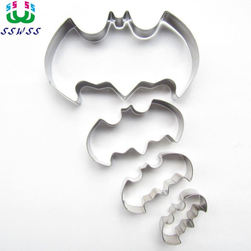 Uno, dos, tres, cuatro murciélagos decoración de pasteles cortadores de Fondant herramienta, estilo de dibujos animados pastel molde para hornear galletas, venta directa