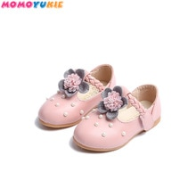 New Girls Princess Leather Shoes For Black Kids Dress Shoes School Flat Shoes Breathable For Princes