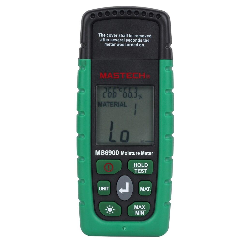 MASTECH MS6900 портативный цифровой измеритель влажности древесины ЖК гигрометр