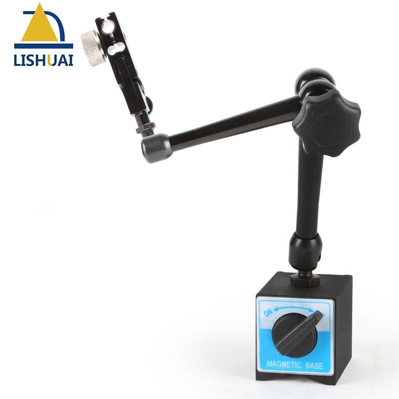 Soporte magnético LISHUAI para Indicador de esfera digital, indicador de Dial ajustable, base magnética, soporte WCE-D