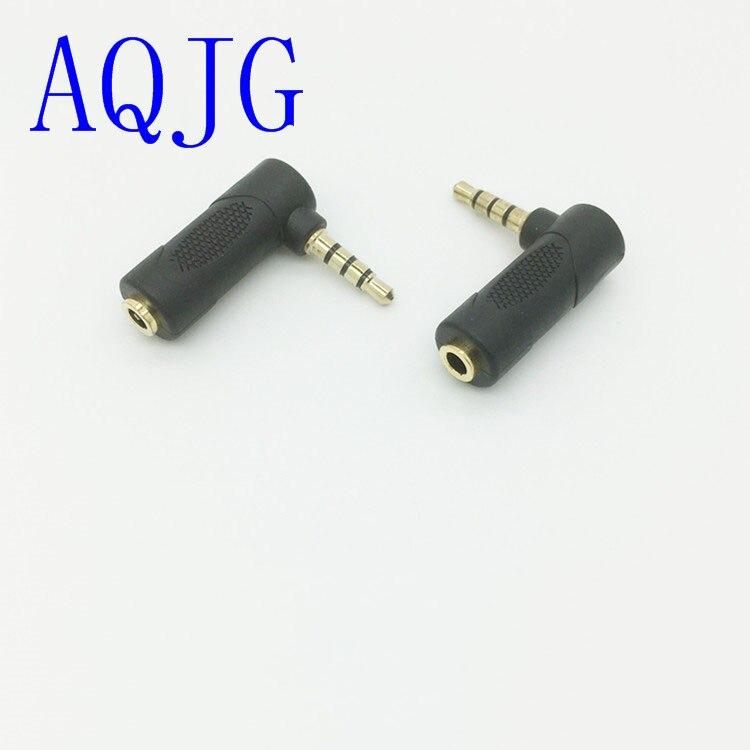 Mini 90 grados ángulo recto DC3.5mm adaptador de Cable de Audio estéreo...