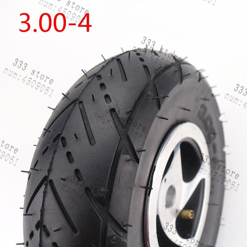 3,00-4 trye rueda de aleación de llanta, cubo neumático con tubo interior para 49cc ATV Quad Gas Scooter eléctrico inteligente huesudas Kart neumático autovía