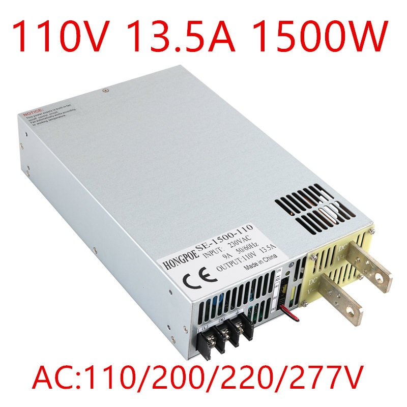 1500W 13.5A 110V power supply 0-110v Adjustable power AC-DC High-Power 110VAC PSU 0-5V analog signal control SE-1500-110