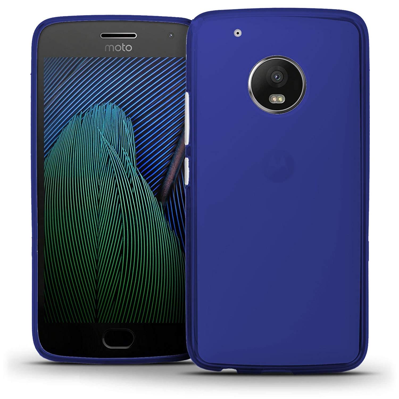 Funda Silicona para Motorola Moto G5 Plus Azul