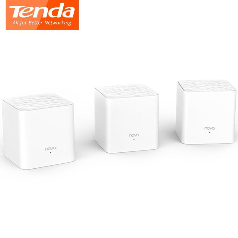 Tenda Nova MW3 موزع إنترنت واي فاي AC1200 ثنائي النطاق للمنزل كله واي فاي تغطية شبكة واي فاي نظام جسر لاسلكي ، APP عن بعد إدارة