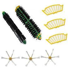 8 spac brosse latérale + kit filtre pour Irobot Roomba 500 527 528 530 532 535 540 555 560 562 570 572 580 581 590 remplacement