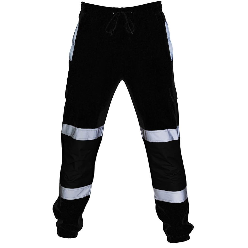 Moda Pantalones de hombre trabajo de carretera overoles de alta visibilidad Casual trabajo de bolsillo pantalones casuales otoño múltiples gran oferta g3