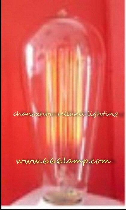 New!yellow Feet Clear Light Edison Bulb Lamp 120v 60w E27 St64x146 Ad001