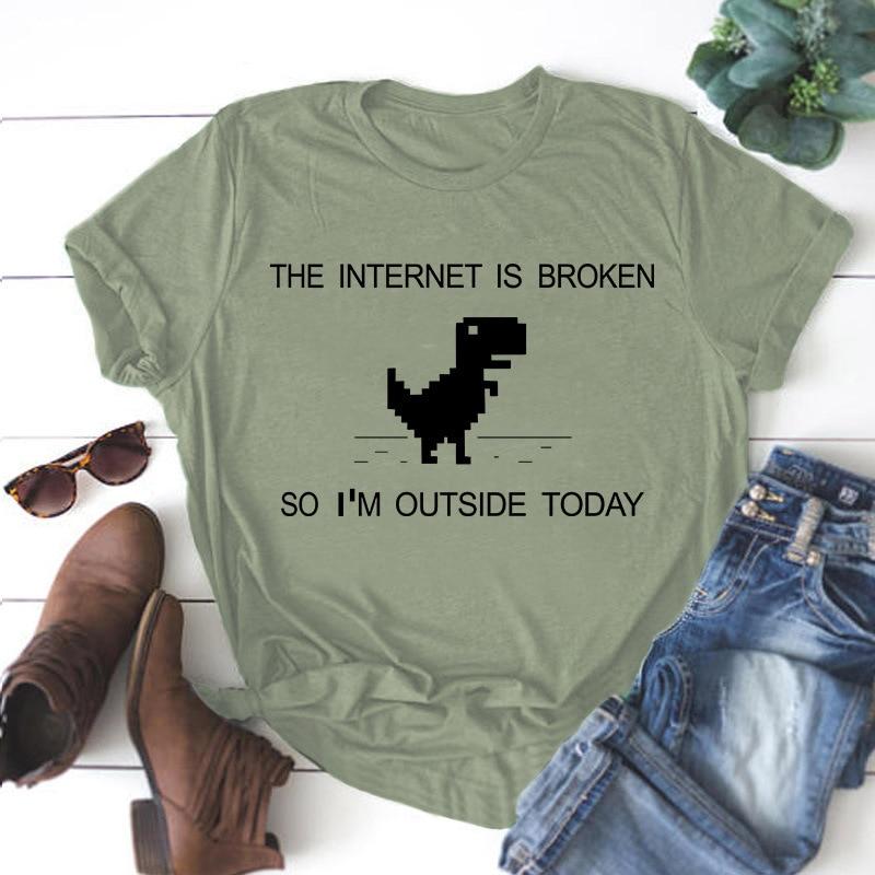 Harajuku mujer estampado Camiseta 100% algodónas coreano carta crop camiseta casual oversize dibujos animados Tops