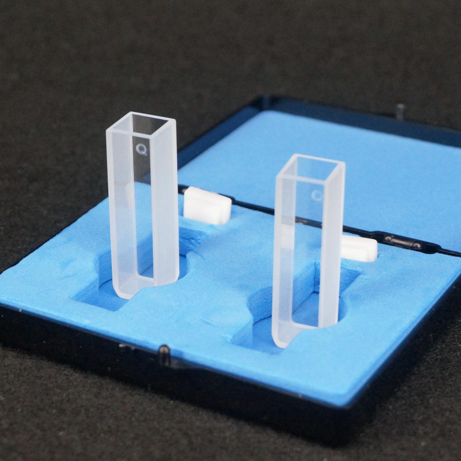 Espectrofotómetro JGS1 de 10mm de longitud de trayectoria, células cubeta de cuarzo para laboratorio
