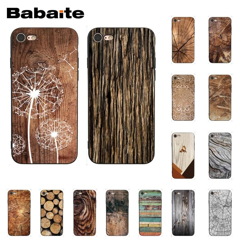 Babaite wood textures Fox Dandelion Mandala Phone Case for iphone 11 Pro 11Pro Max 6S 6plus 7 7plus 8 8Plus X Xs MAX 5 5S XR