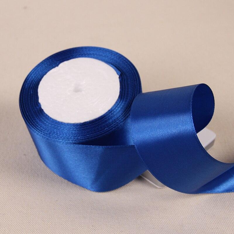 6mm 10mm 15mm 20mm 25mm 40mm 50mm cinta de seda azul real satinada suministros para manualidades boda embalaje de regalo de decoración cintas