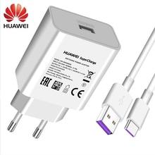 Chargeur rapide de suralimentation dorigine Huawei 4.5V 5A pour Huawei P20 Pro P20 Lite Mate 10 Mate 20 Pro 5A Type c-cable