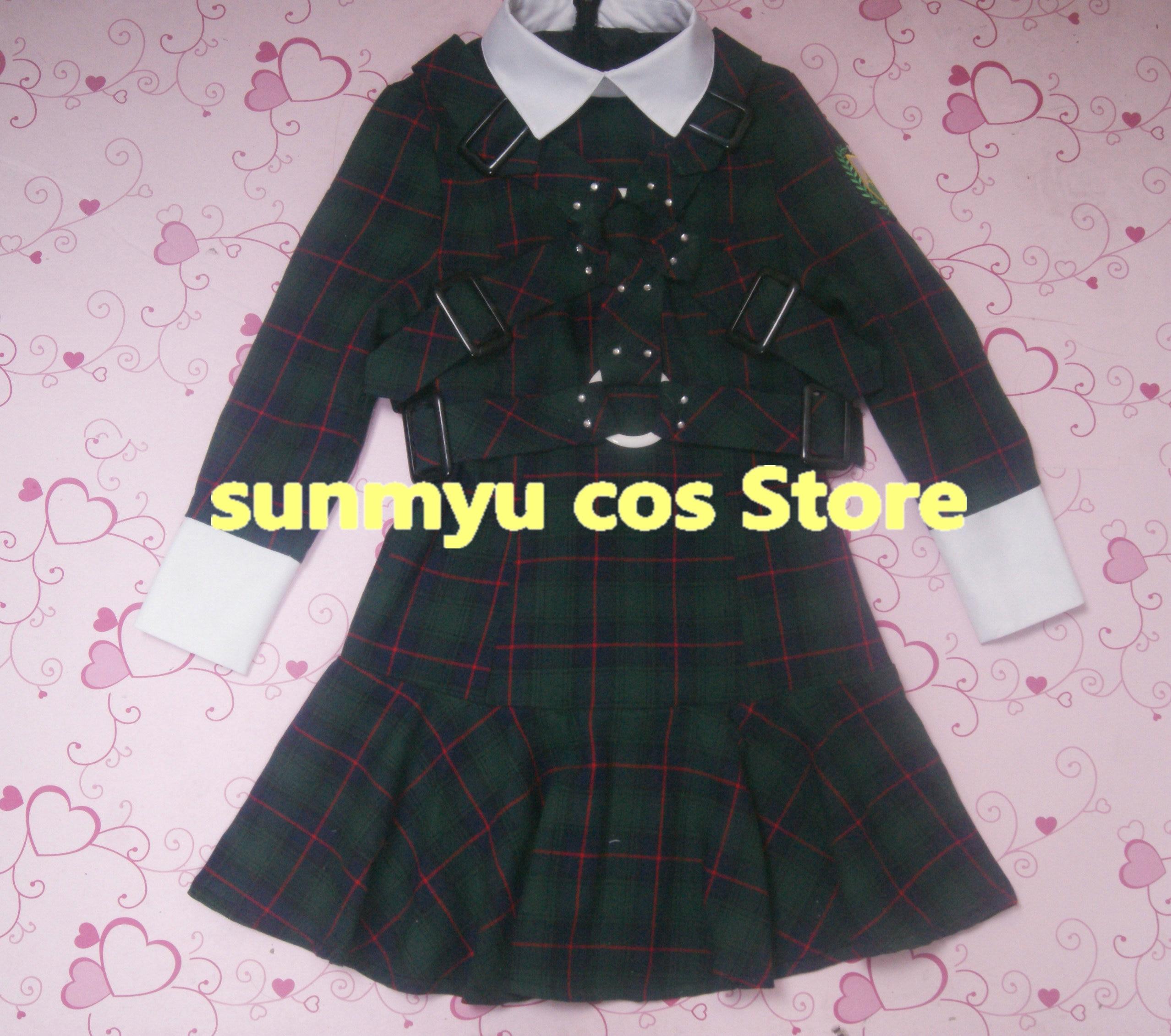 ¡Envío gratis! disfraz de Cosplay de uniforme de rejilla verde de kazenifukaretreo keyaka46, tamaño personalizable de Halloween al por mayor