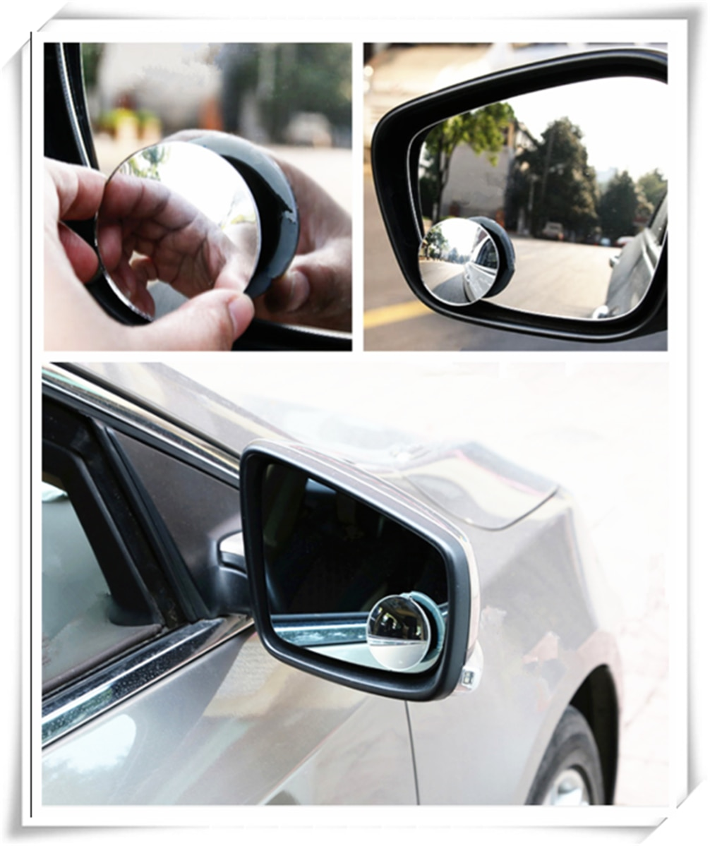 Espejo retrovisor redondo pequeño sin bordes para coche para Nissan NISS LIVINA MARCH X-TRAIL TIIDA