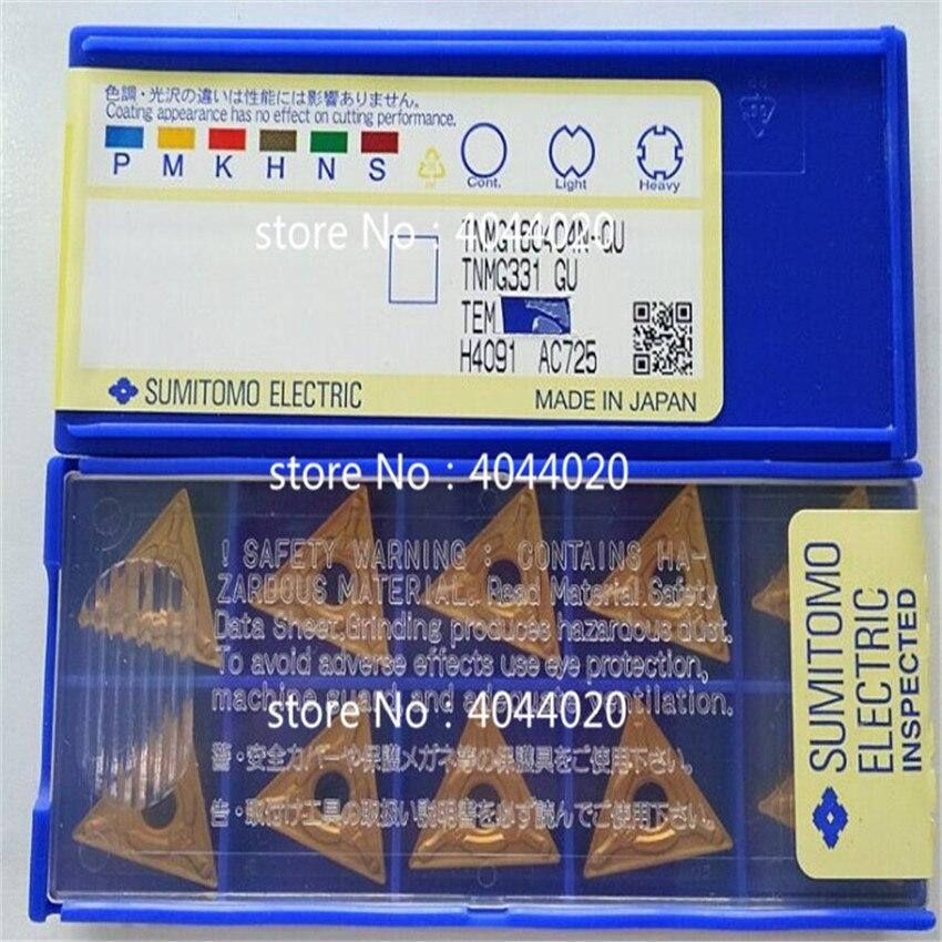 TNMG160404N-GU AC725 10 قطعة/صندوق جديد الأصلي قطع أداة كربيد إدراج ل التصنيع باستخدام الحاسب الآلي