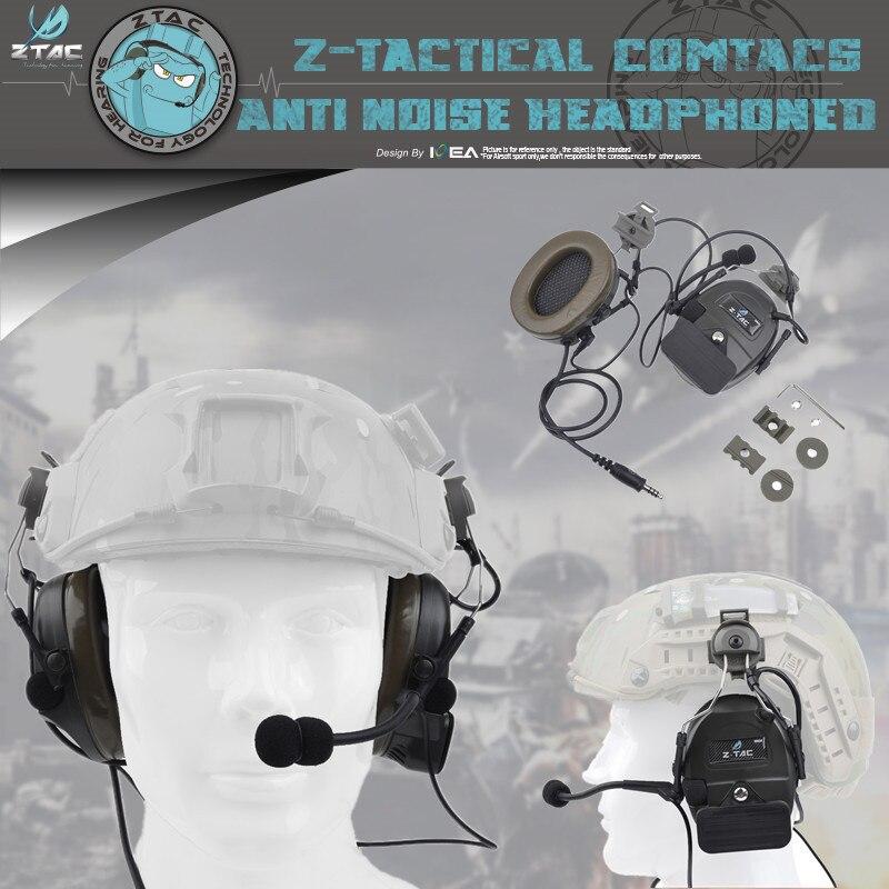 Z-TAC Z032 Comtac I Headset for Quick Hats Hunting Aviation Headset Anr Headset Aviation Adapter
