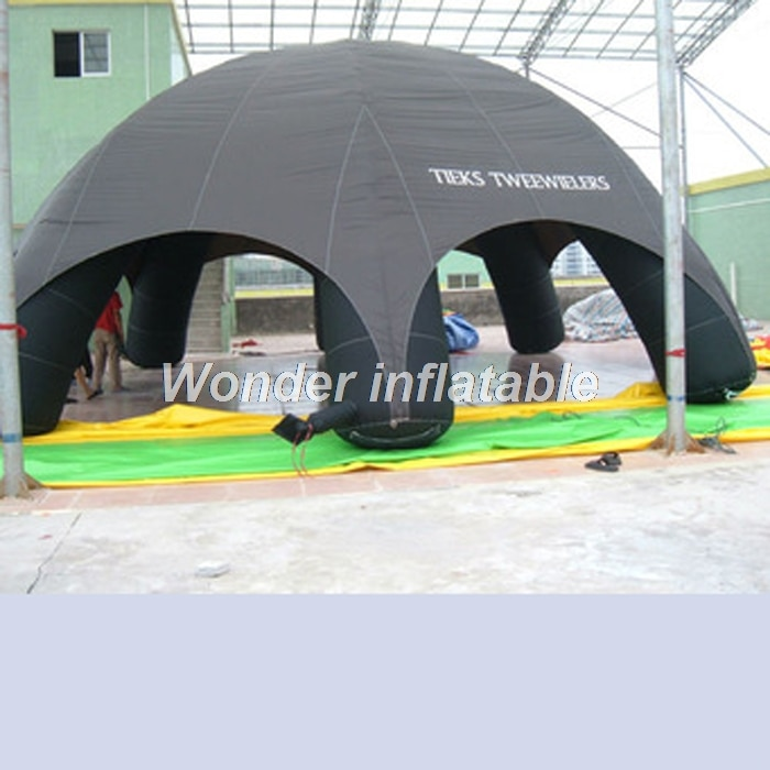 Outdoor 10m portable 6 legs advertising inflatable spider tent giant inflatable dome tent with side walls for event