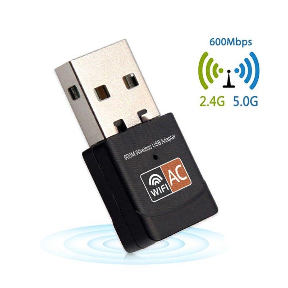 Mini 600Mbps 2,4G + 5G banda Dual inalámbrica de conexión USB del adaptador del receptor WiFi Dongle AC600M 802.11ac casa tarjeta de red