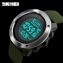 SKMEI nouvelles montres de sport de mode boîte en acier inoxydable hommes horloge numérique hommes armée militaire LED étanche montres électroniques
