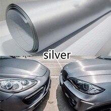 Film vinyle aluminium brossé, autocollant denveloppe métallique, 152cm x 30cm/12x60 pouces, sans bulles dair