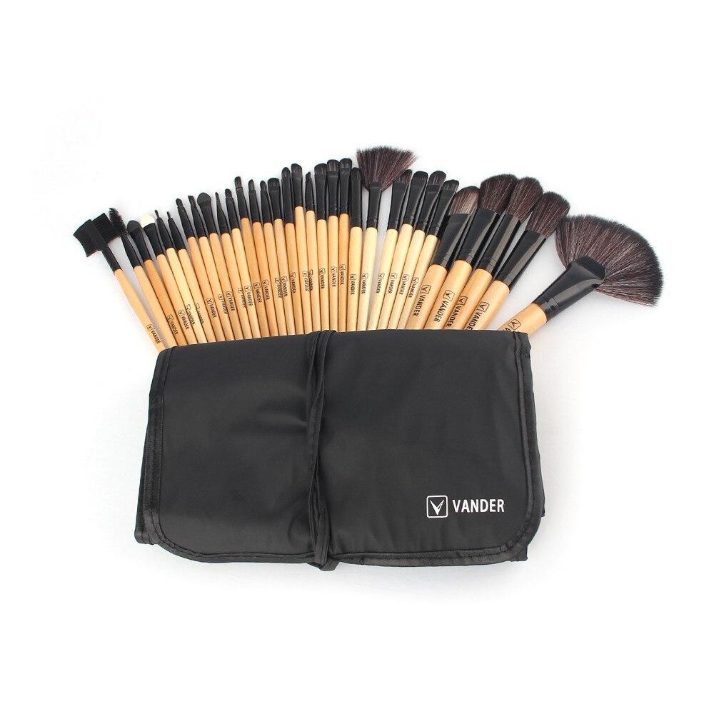 Vander 32 uds, brochas de maquillaje profesionales, brochas de maquillaje para base de ojos, sombras labiales, brochas de maquillaje en polvo, bolsa, Kit de maquillaje