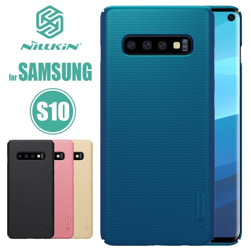 Para Samsung Galaxy S10 caso Nillkin Ultra Slim PC duro fundas traseras Super mate escudo para Samsung S10 caso Coque de la bolsa del teléfono