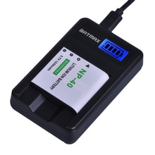 1Pc 1230mAh NP-40 NP40 Caméra Batterie + LCD USB Chargeur pour Casio EX-Z400 FC100 FC150 FC160S P505 P600 P700 Z300 Z600 EX-Z850