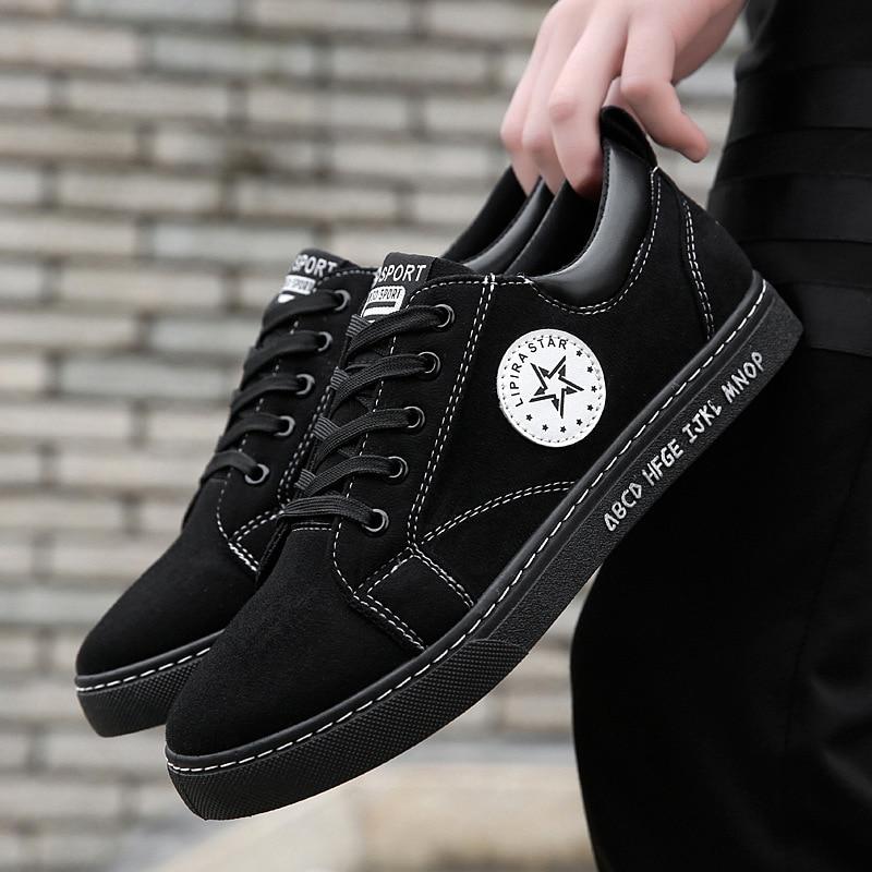 Zapatillas de hombre 2018, nuevos zapatos de estilo, zapatillas de hombre sólidas y cómodas, mocasines con cordones, zapatos casuales para hombre, tenis masculino adulto