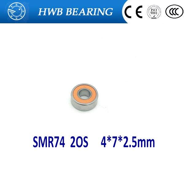 2 rodamientos de cerámica híbridos de acero inoxidable SMR74 2OS CB ABEC7 de 4X7X2.5mm SMR74 2OS SMR74C 2OS SMR74-2RS