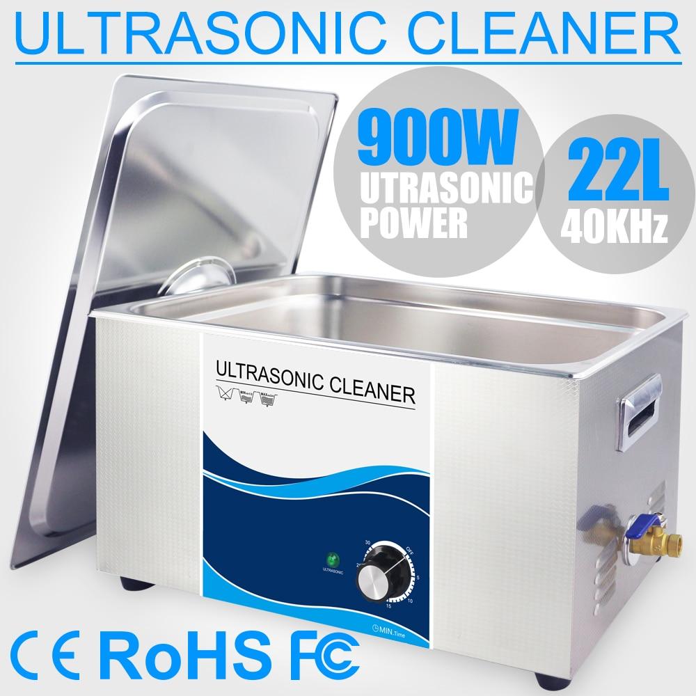 22L Ultra sonic מנקה מברשת אמבטיה 900 W טיימר ידית מעבדה רכב מנוע צילינדר מנוע דלק מזרק רפואי כירורגי מכשיר