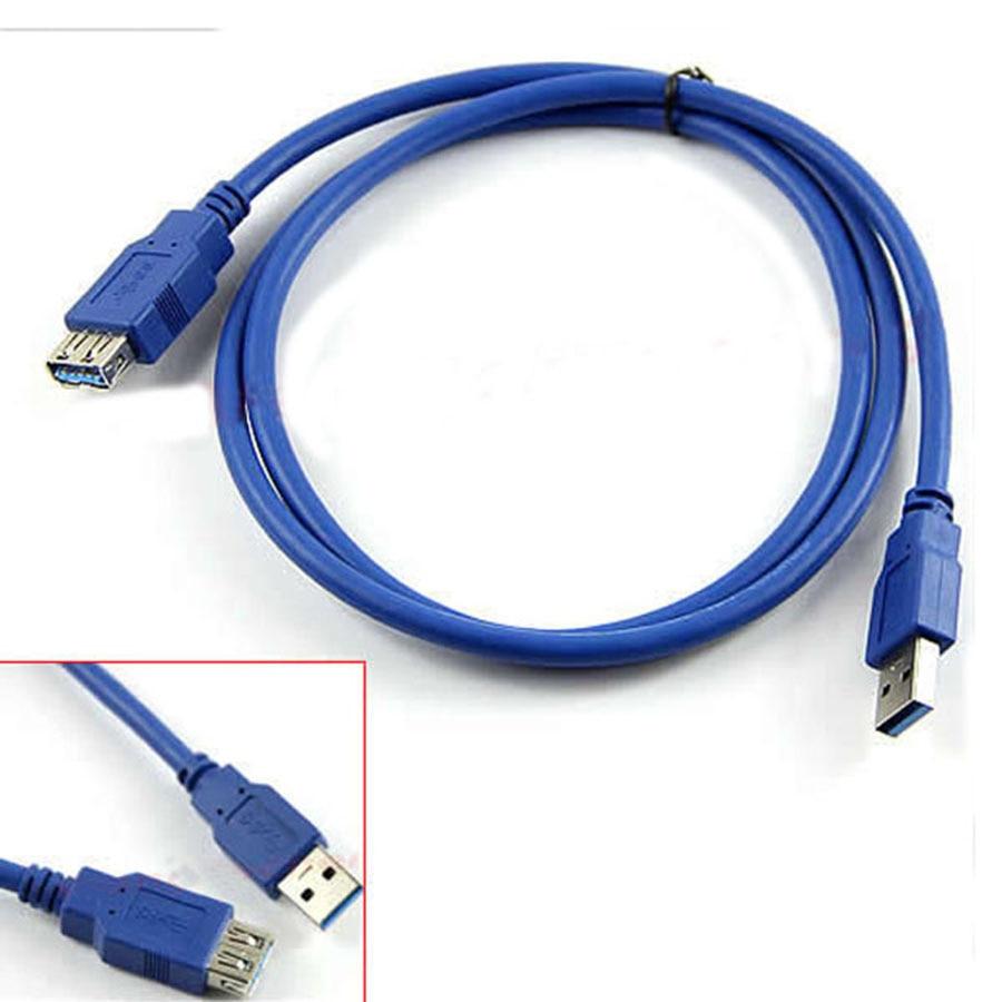 Удлинительный Кабель USB 3,0 для синхронизации данных с разъемом 4,8 Гбит/с для ноутбука, настольный компьютер, принтер с жестким диском синего ...