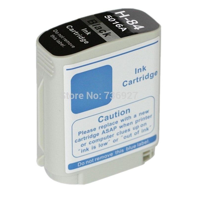4 cartucho de tinta negro Compatible para hp 84 hp 84, para Designjet 90r/10 ps/20 ps/50 ps/30/120/130 impresora Inkjet2600 Business