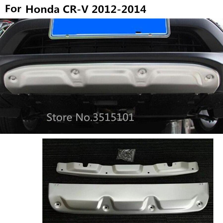 Coche ABS cromado delantero trasero parachoques trasero pedal puerta trasera tira embellecedora placa umbral 2 uds para Honda CRV CR-V 2012 2013 2014