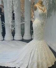 2019 Luxe Abiye Mermaid Trouwjurken Lace Bruidsjurken Met Kralen Crystal Dubai Trouwjurk Casamento