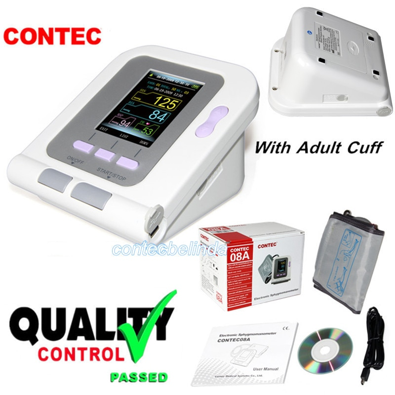 CONTEC08A Digitale Oberen Arm Blutdruck Monitor Erwachsene Manschette + PC Software Freies verschiffen CE & FDA CONTEC