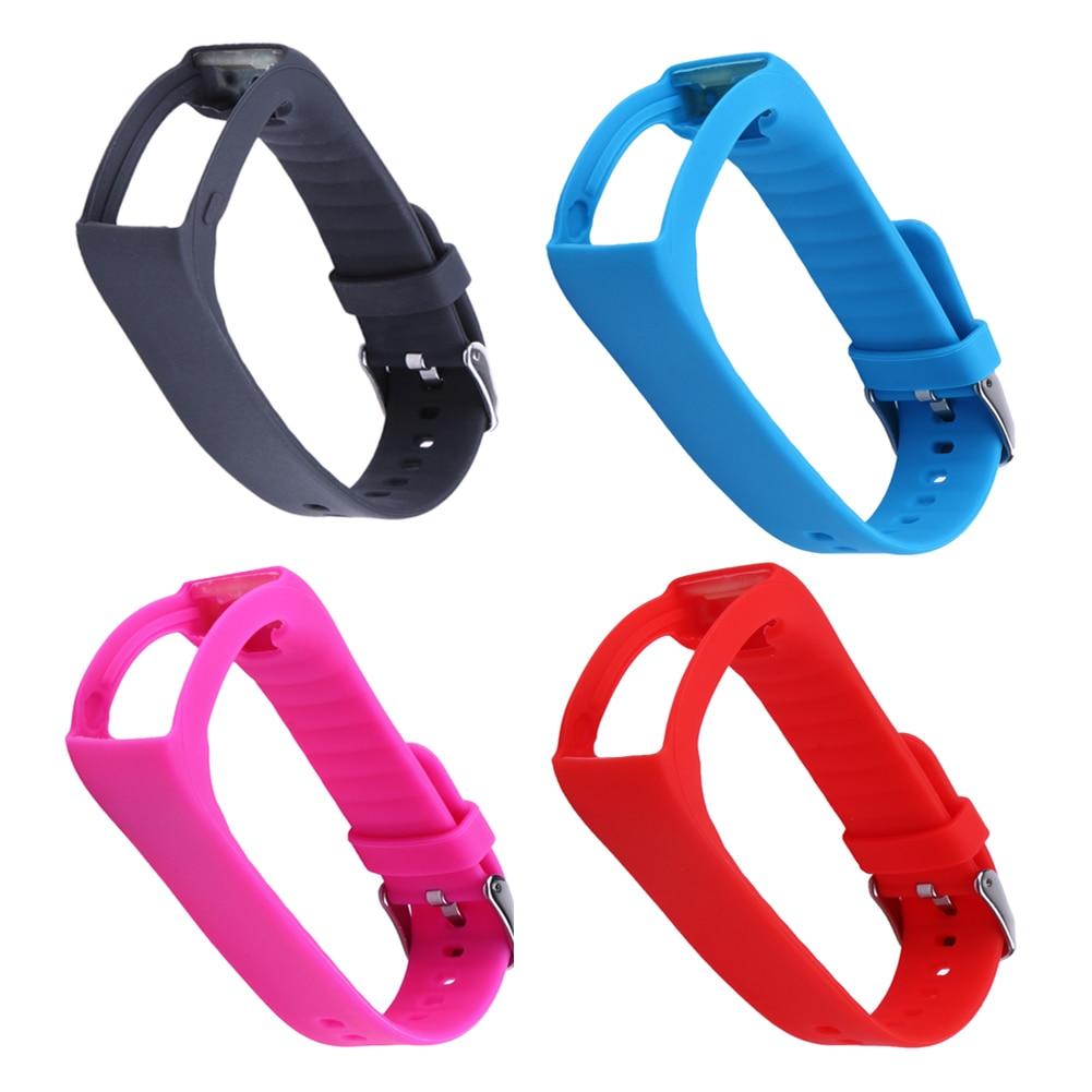 Pulsera inteligente de silicona, 8 colores, pulsera inteligente con Lazo de cinta, hebilla protectora de marco para Polar A360