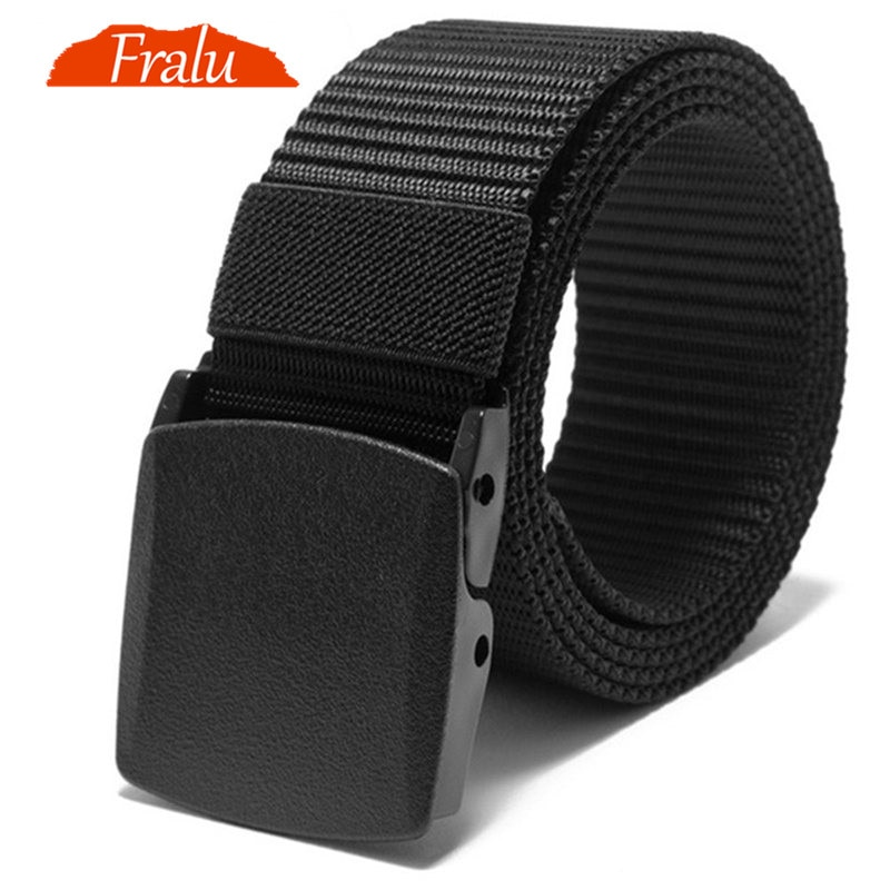 FRALU Automatic Buckle Nylon Belt Male Army Tactical Belt Mens Military Waist Canvas Belts Cummerbun