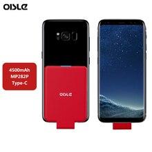 OISLE 4500mAh Type C chargeur de batterie boîtier externe USB-C batterie dalimentation Mini étui de charge pour Samsung S8 S9 Plus Note 8 / Nexus 6P