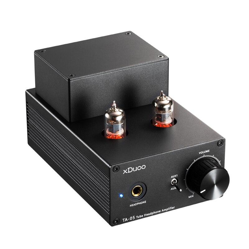 XDuoo TA-05 TA05 HiFi audio estéreo tubo amplificador de auriculares Amp 2x 6J1 & ST 772/882 transistores escritorio amplificador