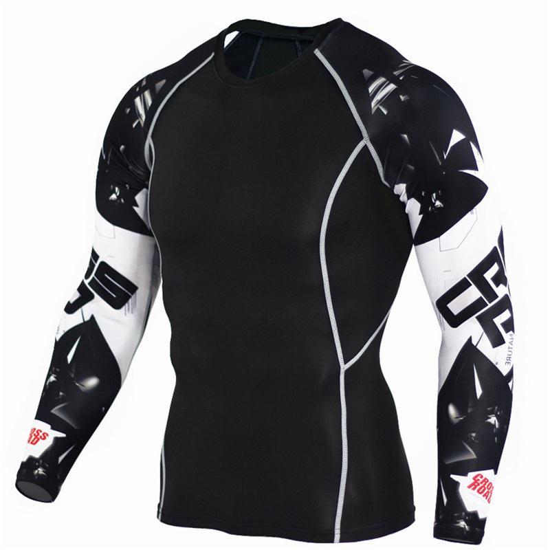 2017 мужские футболки COCEDDB для фитнеса, модные 3D футболки с длинным рукавом и волком для подростков, компрессионные футболки, бодибилдинг, Кроссфит, брендовая одежда