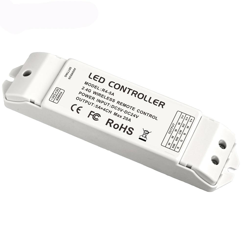 Новый R4-5A CV постоянное напряжение мульти зоны приемник контроллер матч с Wifi-104 DX серии контроллер 2,4G DC5-24V 20A выход