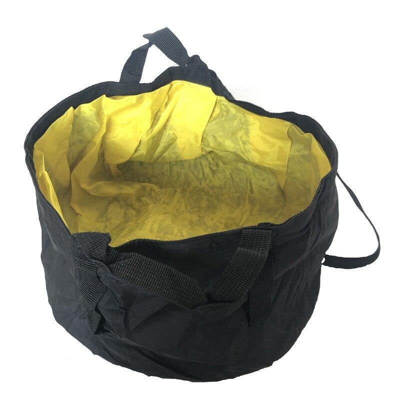 30cm * 16cm pliant seau de pêche en direct sac de pêche multi-fonction jaune en plein air Camping voiture Portable seau sac