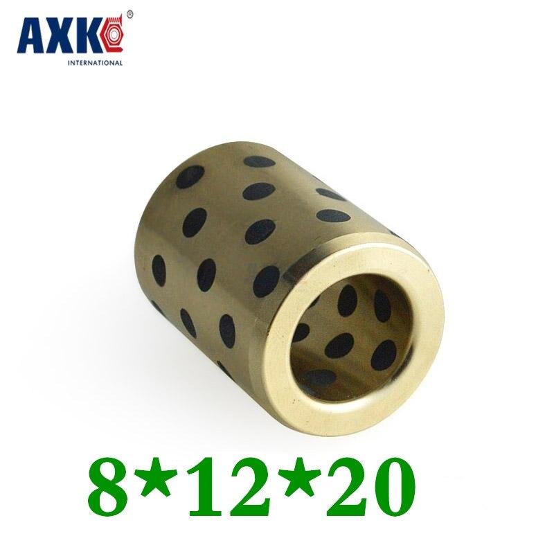 8x12x20 Mm Linear Graphite Copper Set Bearing Copper Bushing Oil Self-lubricating Bearing Jdb